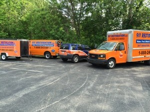 Water Damage Restoration Truck And Van And SUV